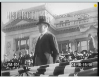 March 3, 1913, Woodrow Wilson sworn into office. Emmett is there...somewhere.  Source: www.historicfilms.com