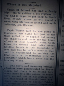 He loves the women. Source: Pensacola Evening News, August 12, 1912.