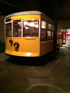 One of the actual trolley cars from Emmett's time. Jacki feels quite confident he rode in this car when he lived her.