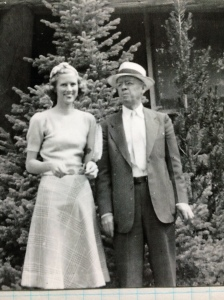 Jule and Julian Wilson in the 1940s. Jule still has that lovely smile.