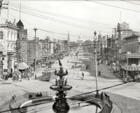 Montgomery Alabama, 1906. Talk about a 'wired' city back in the day. Source: Shorpy.com