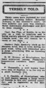 Example of a Tersely Told column from The Pensacola Journal, June 24, 1908. Source: LOC.