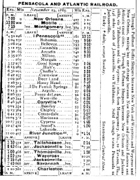 A timetable for a train that Emmett frequently caught to Chipley.