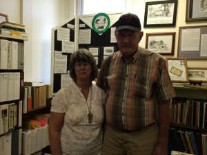 Curator Dorothy Odom with local historian Whit Gainey.  Two of the nicest people I've ever met.