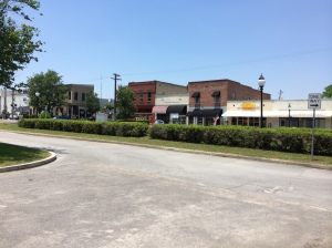 The railroad runs right down the center of downtown Chipley.