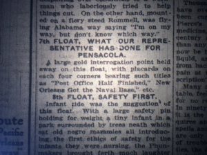 I just wish I had a photograph of that thing. Source: The Pensacola Journal, Feb. 17, 1915.