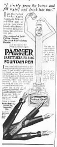 Parker's Fountain Pens. From McClure's, September 1915.