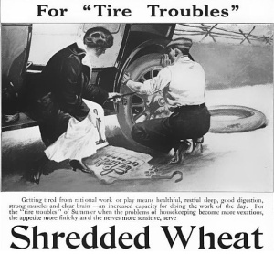 Got a flat? Shredded Wheat to the rescue!