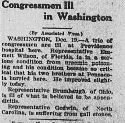 Emmett almost died in December, 1914.