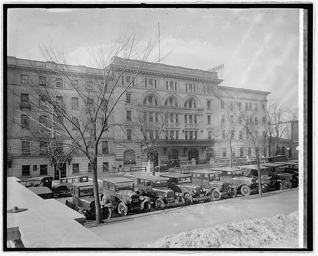 The Congress Hall Hotel, circa 1915. The Longworth House Office Building is on this site now. Source: LOC.gov