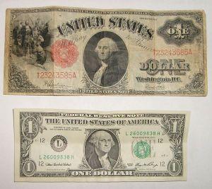 A one dollar bill from 1917. Source: www.treasurenet.com