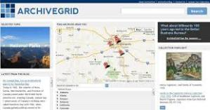 Sample image of ArchiveGrid's site. Source: http://beta.worldcat.org/archivegrid/