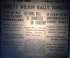 The Emmett Wilson Club organizes. Source: The Pensacola Journal, 1912