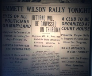 The Emmett Wilson Club organizes. Source: The Pensacola Journal, 1912