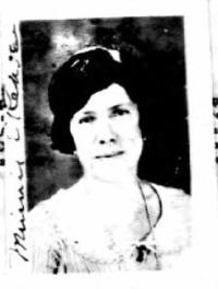Minnie Kehoe, passport photo, 1924. Source: Ancestry.com
