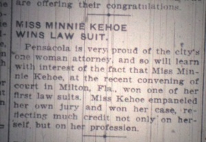 Minnie was all that. Source: The Pensacola Journal, 1912.