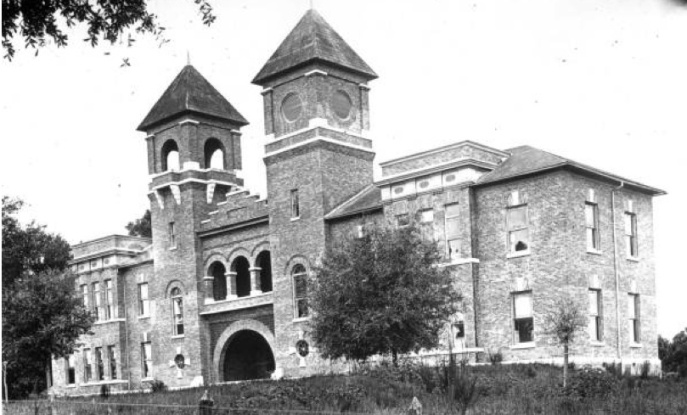 The main WFS building, constructed in 1891; it was then replaced by Westcott Hall in 1909. Source: State Archives of Florida, Florida Memory, http://floridamemory.com/items/show/11572