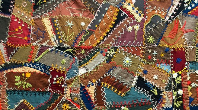 Emmett's life story is like assembling a crazy quilt of information. Source: whyquiltsmatter.org