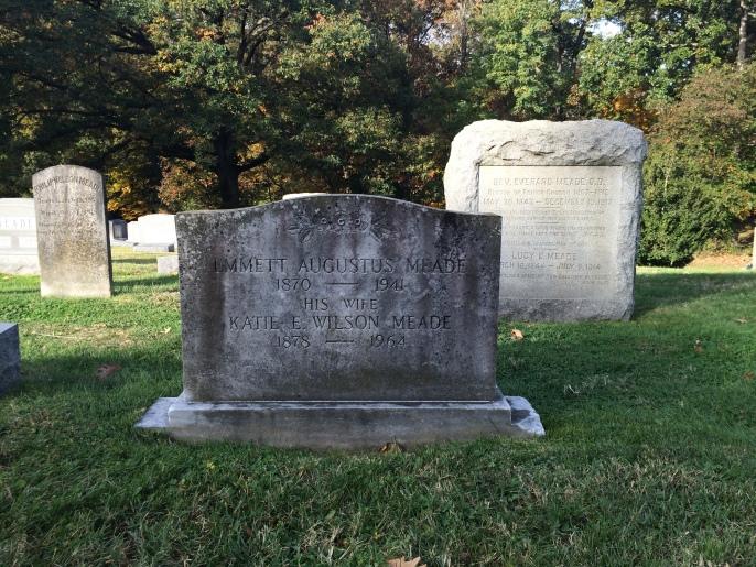 Katie E. Wilson Meade, in historic Pohick Church Cemetery, Lorton, Virginia.