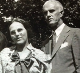 Katie Wilson Meade and her husband Emmett Meade, about 1932, Charlottesville, Virginia. Emmett Meade was also Katie and Emmett Wilson's first cousin.