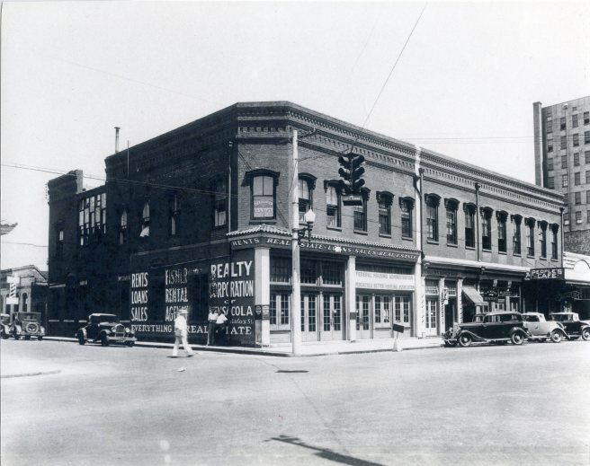 The Mallory Building, about 1925. It was located at the corner of Palafox & Interdencia Streets. Source: Pensacola Historical Society