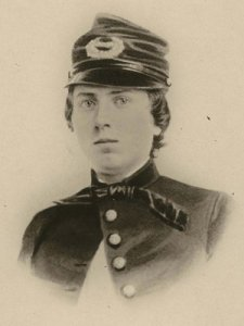 Alonzo H. Cushing, in furlough uniform, taken about 1860. Source: www.npr.org and the Wisconsin Historical Society