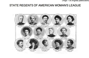 Minnie Neal, bottom row, last photo on the left. She was a State Regent for the American Woman's League. I had a feeling Minnie was a woman ahead of her time. Source: history.ucpl.lib.mo.us/