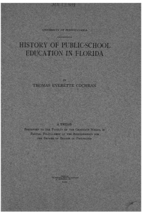 A good source for information on public school in Florida. Source: Google Books