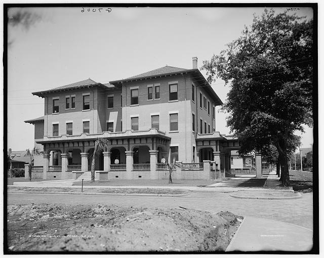 Osceola Club, corner of Garden and Baylen, taken around 1910. Source: LOC.gov