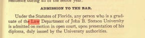 Emmett presented his diploma to Judge Locke in Jacksonville and was duly sworn in. Source: Stetson University archives.