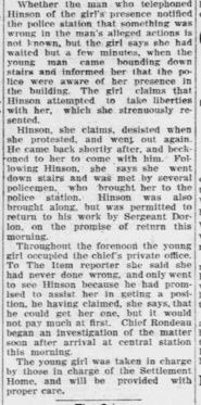 So, where is Hinson's rebuttal? Nowhere. This is Ruth Lane's 15 minutes of fame.