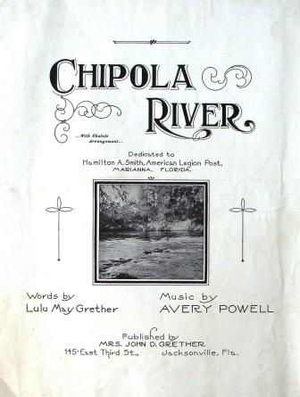 """Chipola River"" by Mrs. Lulu (Lula) May Grether. Source: Floridasheetmusic.com"