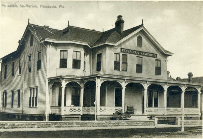 St. Anthony's Hospital, also known as the Pensacola Sanitarium, post move. Source: Pensacola Historical Society