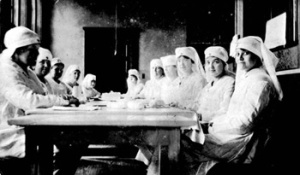 WWI Red Cross volunteers in Florida rolling bandages. Very likely Lula was instrumental in setting up this group. Source: State Archives of Florida