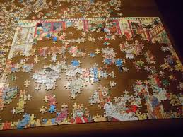 I love putting large puzzles together: The more difficult they are, the better I like them. Source: www.librarything.com