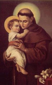 St. Anthony of Padua. Patron saint of the lost.