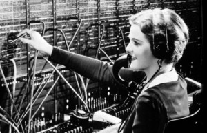 Operators at the time this story came out were mostly women anyway. Vernon wouldn't have worked at the switchboard. Image source: u.osu.edu