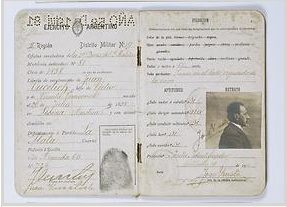 Identification card for Juan Vucetich, who pioneered a viable fingerprint identification system for law enforcement. Source: http://www.nlm.nih.gov/visibleproofs/galleries/biographies/vucetich.html