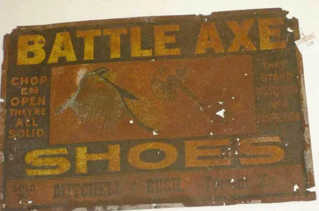 An ad for the Battle Axe shoe. Source: theredrivermuseum.org