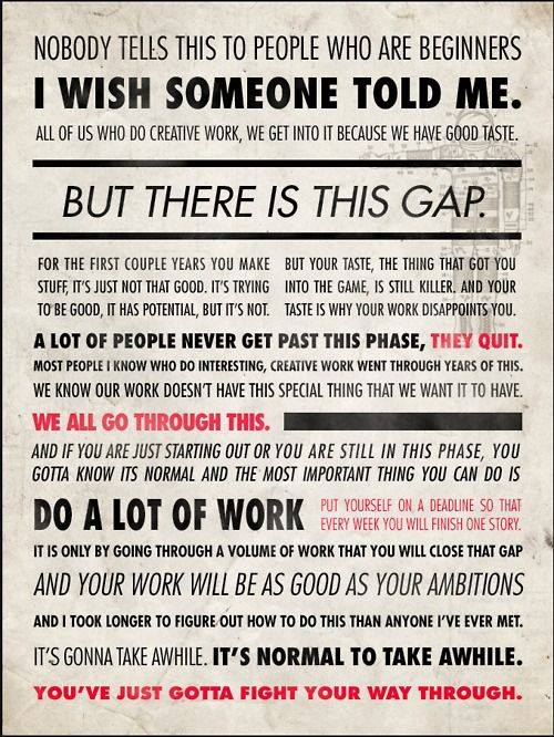 Credit to Ira Glass; Source: The Writer's Circle