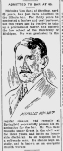 Source: Robinson Constitution, November 20, 1905