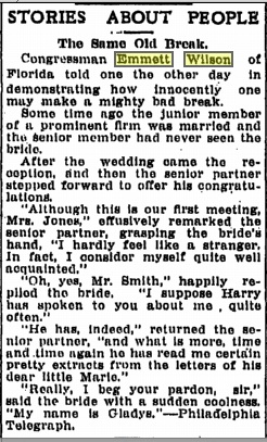 Emmett should probably stick to his day job. Source: Flint  Journal, 1913.
