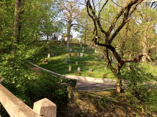 One of the sights along the route is historic Oak Hill Cemetery in Georgetown.