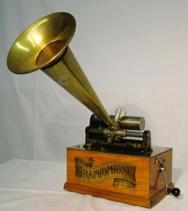 Emmett's family had a graphophone that looked something like this model. Source: Phonojack