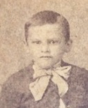 Emmett in a fancy bow tie, age 8. Photo was taken December, 1890.