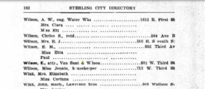Emmett's address in Sterling. Source: Ancestry.com