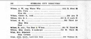 Emmett's address in Sterling. Source: Ancestry.com