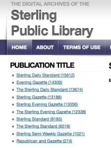 Sterling Public Library's Digital Archives