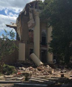 Washington County Courthouse demolition. Image source: Washington County (FL) News