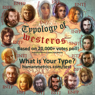 An interesting look at the personality types of Westeros. Source: Humanmetrics. Click here to read the expanded chart.